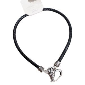 3/$21  With Love  California Lock & Heart Necklace